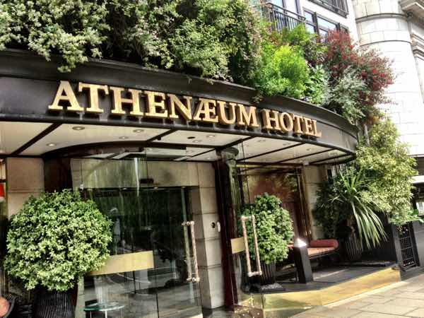 Athenaeum Hotel entrance for example of previous work